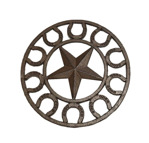 Cast Iron Star Horseshoe Trivet