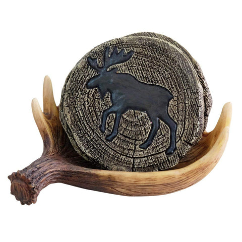 Moose In The Wild Coasters Set