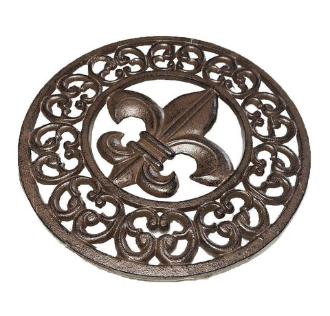 Cast Iron Fleur De Lis Trivet or wall decor