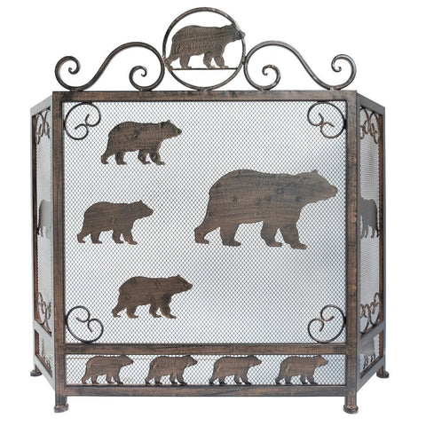 Heavy Metal Bear Fire Screen
