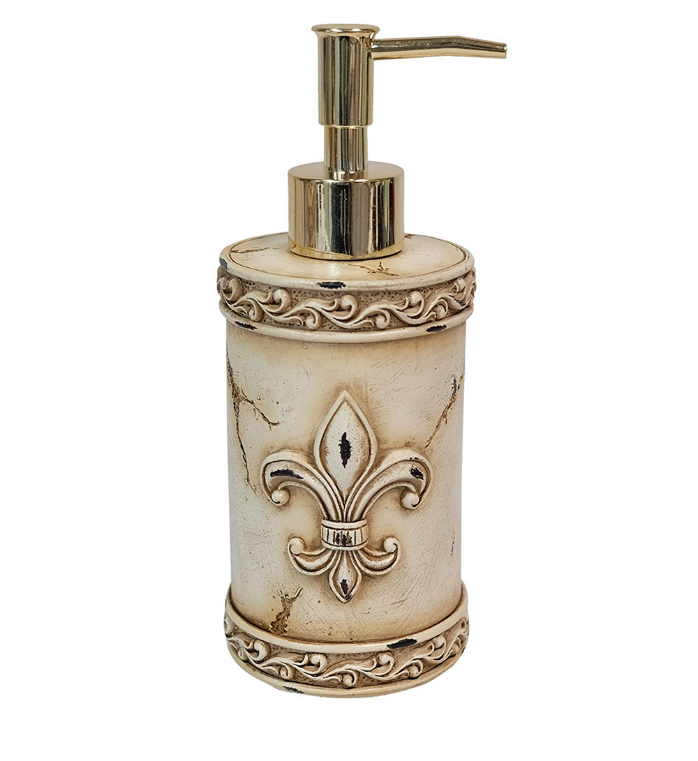 Art Deco Fleur De Lis Lotion Pump - Soap Dispenser