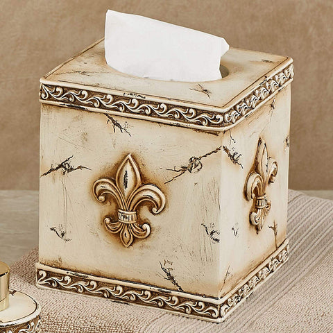 Art Deco Fleur De Lis Tissue Box Cover