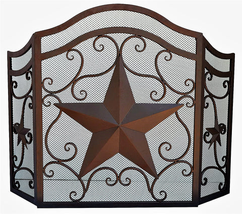 Lone Star Fire Place Screen
