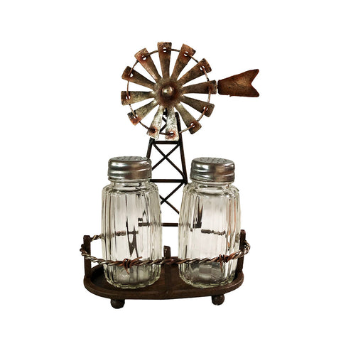Rustic Windmill Salt & Pepper Shaker Set