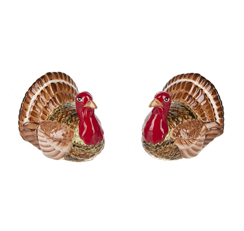 Turkey Salt & Pepper Shaker Set - Ceramic