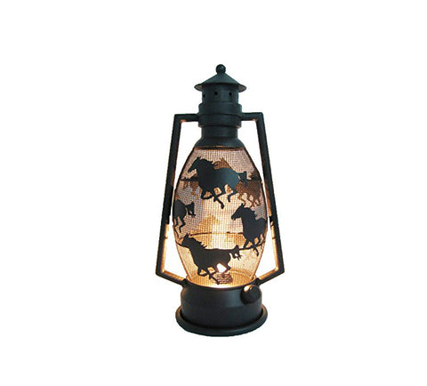 Running Horse Metal Lantern Lamp - Night Light
