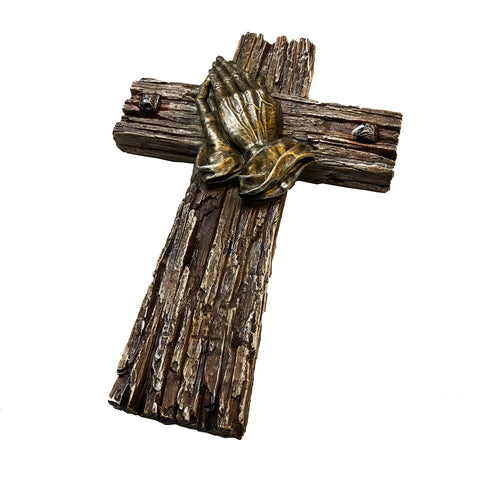 Praying Hands Wall Cross