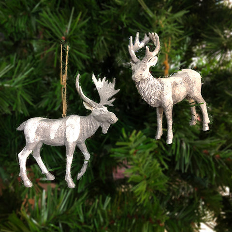 Set of Deer & Moose Ornament