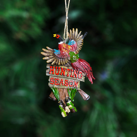 "Pheasant ""Hunting Season"" Ornament"