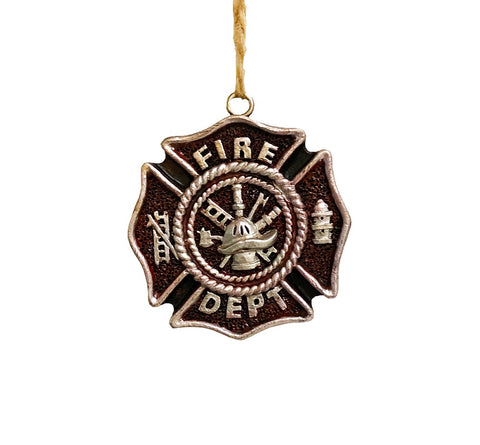 The Great Firefighter - Fireman Badge - Decorative Novelty Ornament