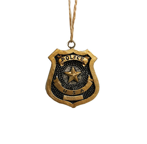 Policeman - Police Department Badge - Decorative, Novelty Ornament
