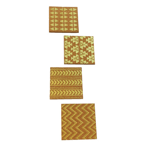 Tribal Print Cork Coasters Set Of 4
