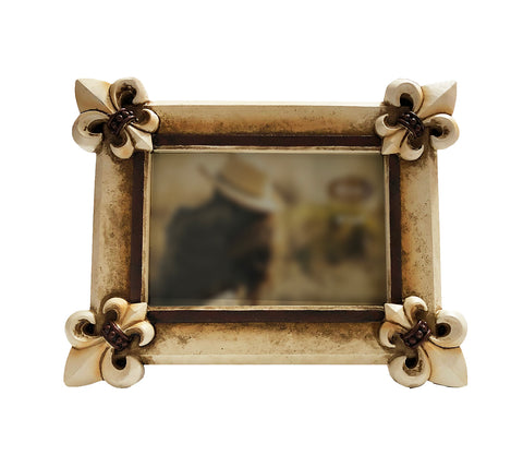 "Art Deco Fleur De Lis Photo Frame -  Hold 4"" x 6"" Picture"