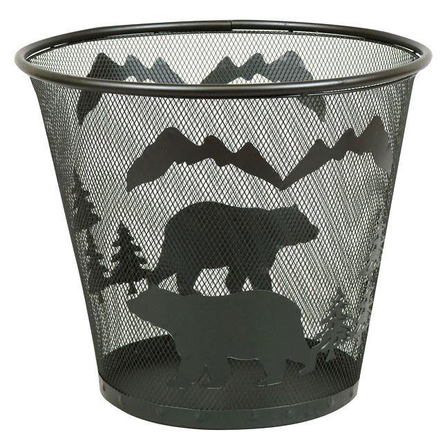 Bear & Mountain Peaks Wire Waste Basket