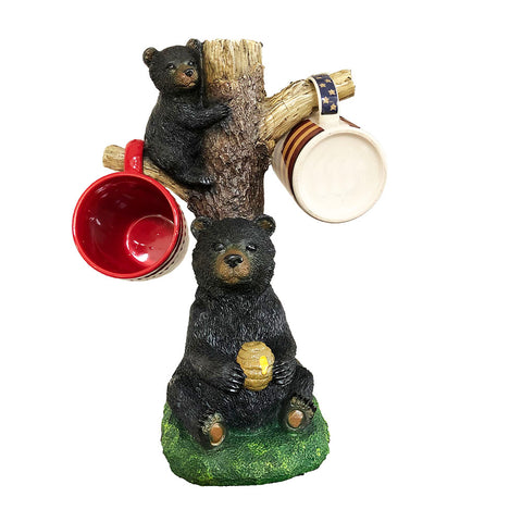 Bear Holding Bee Hive Tree Mugs Holder