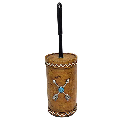 Crossed Arrows Toilet Brush & Holder