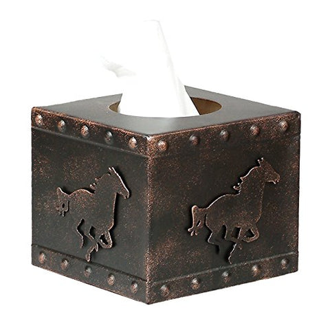 Racing Horse Metal Tissue Box cover - SQUARE