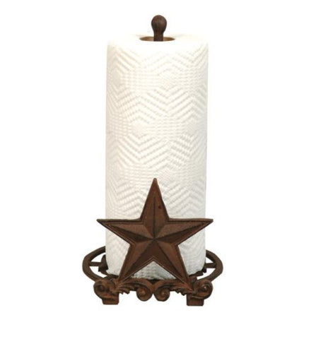 Western Lone Star Paper Towel Holder - Cast iron