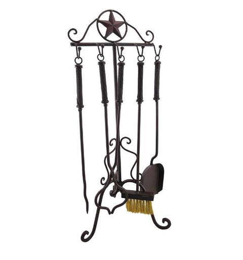 Elegant Lone Star Fire Place Tool Set