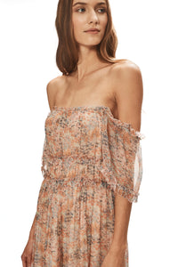 Water Lily Ruffle Off Shoulder Dress