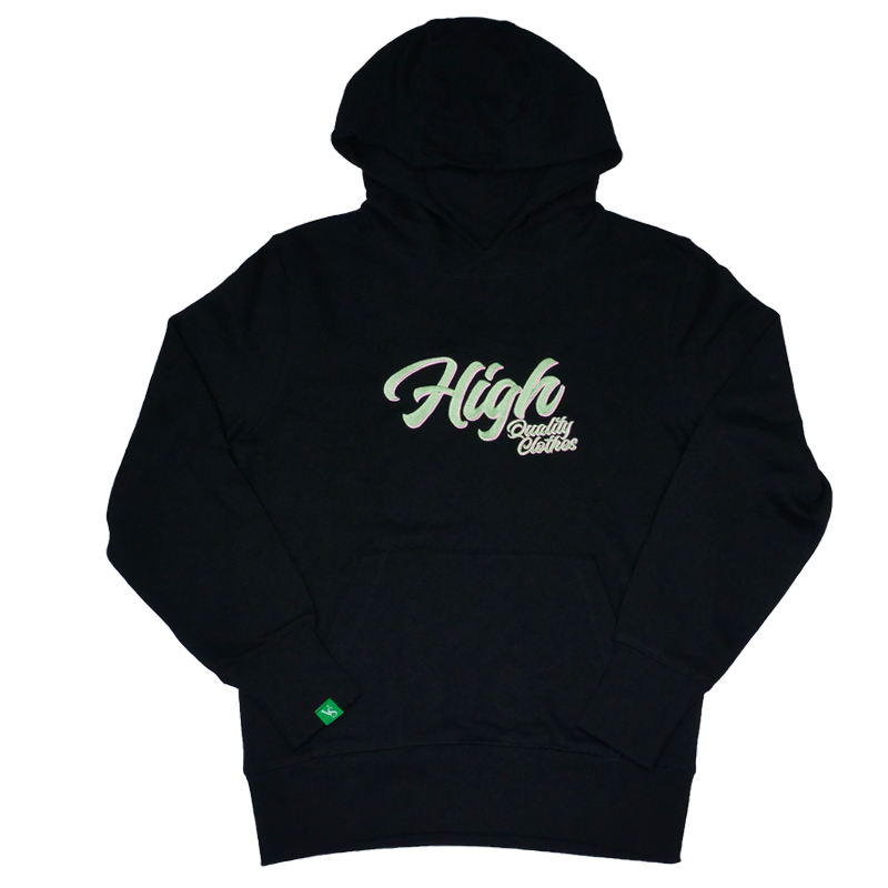 Sweat-hoodies-CBDHOODIE Brodé - HIGH QC - Noir-VERTSACHET