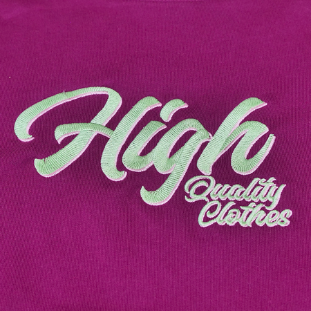 Sweat-hoodies-CBDHOODIE Brodé - HIGH QC - Raisin-VERTSACHET