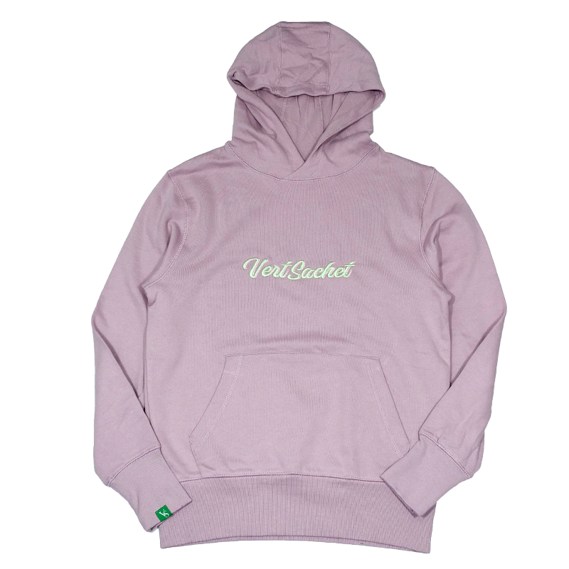 Sweat-hoodies-CBDHOODIE Brodé - VERTSACHET HIGH QC - Rose-VERTSACHET