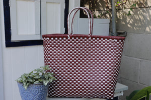 Mexi Purse (Maroon & White)