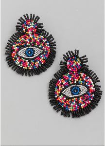 Multi Color Ojo Earrings