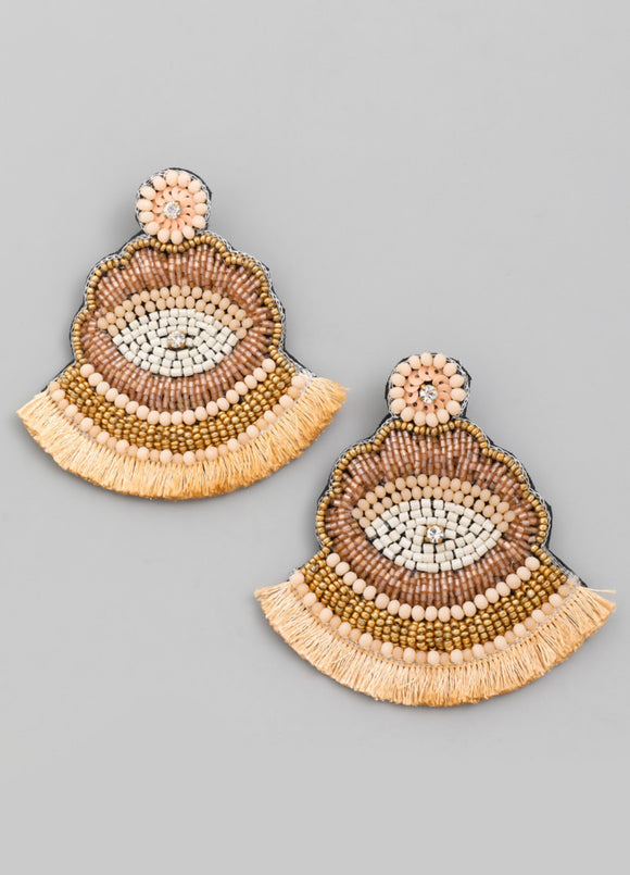 "Beaded ""Ojo Earrings"""