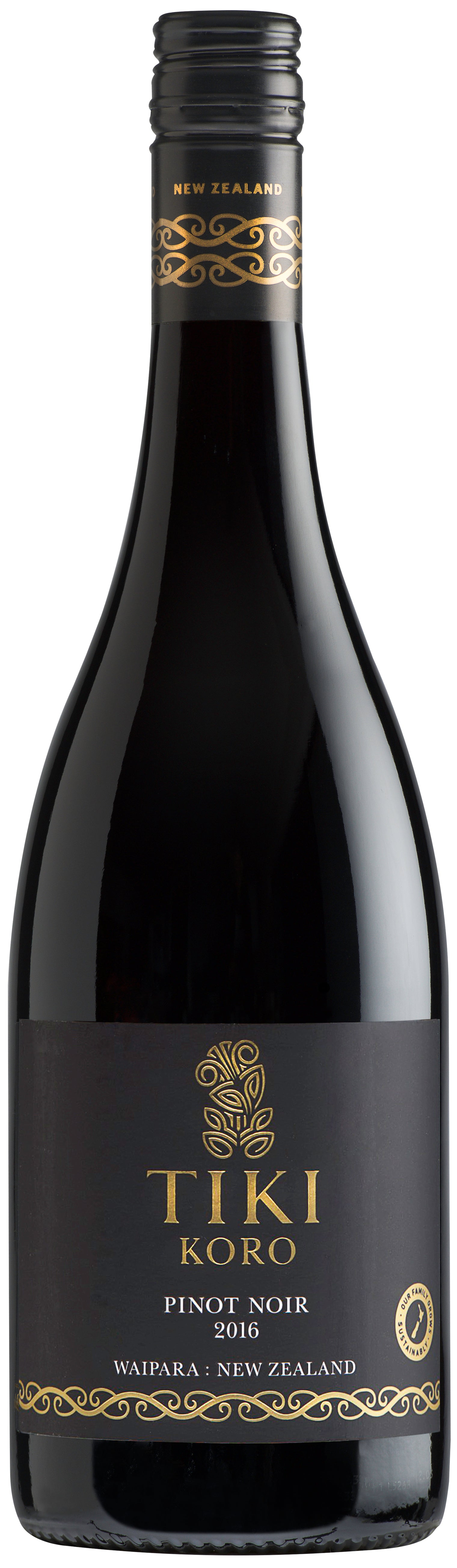 Tiki KORO Waipara Pinot Noir 2016 - $35 a bottle - $210 for a 6 pack