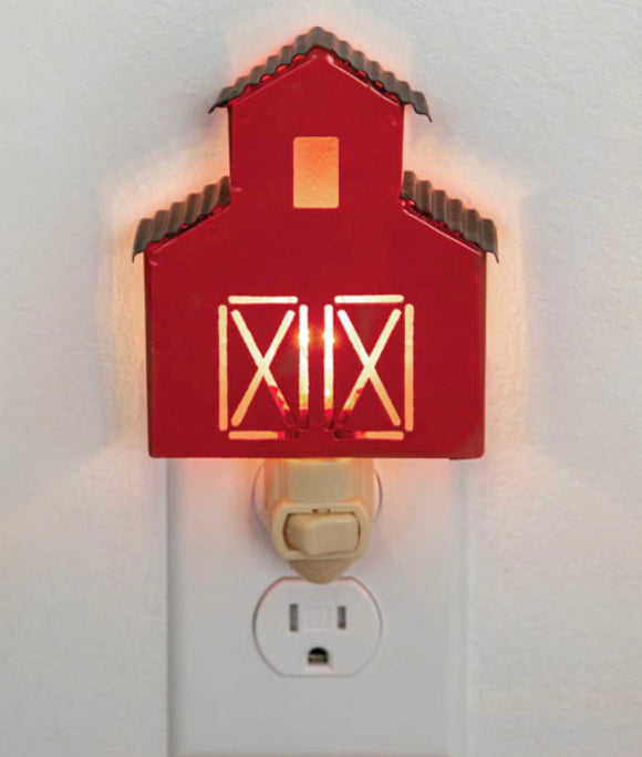 Red barn night light (wholesale)