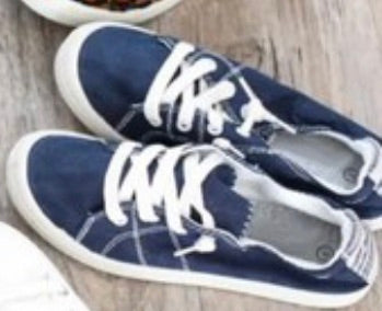 Navy and White sneakers