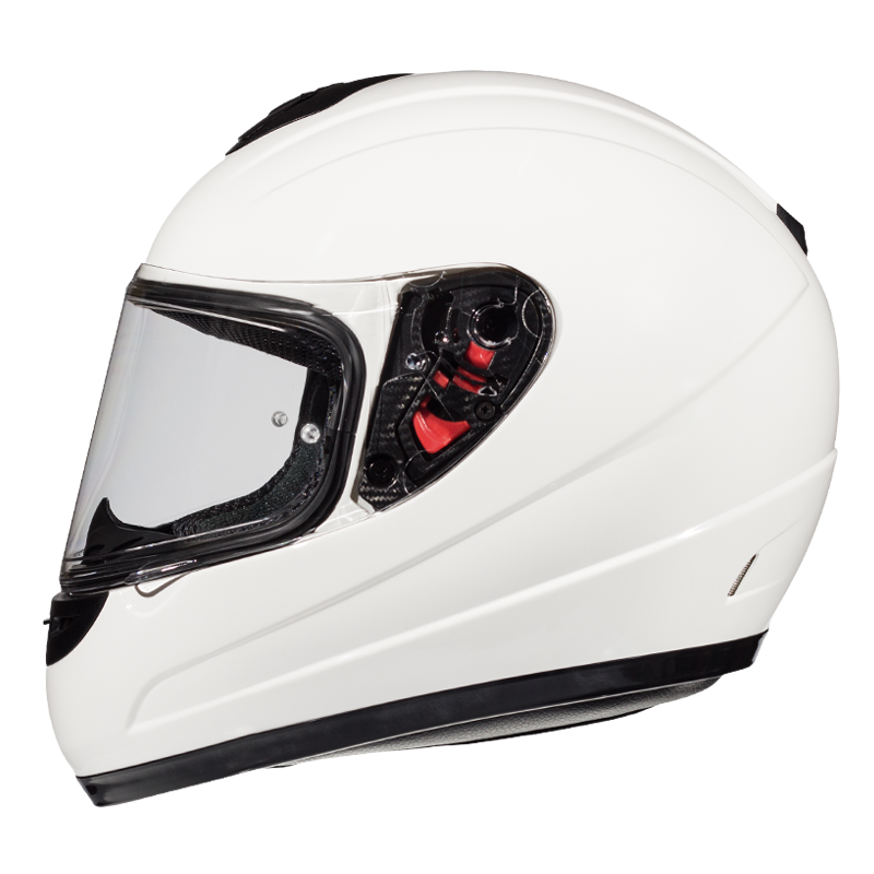 Casco MT HELMETS THUNDER KID SOLID (BLANCO-NEGRO)