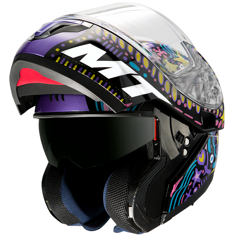 Casco MT HELMETS ATOM SV AXA A1 GLOSS BLACK