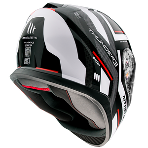 Casco MT HELMETS THUNDER 3 SV CARRY (ROJO-AZUL-BLANCO)