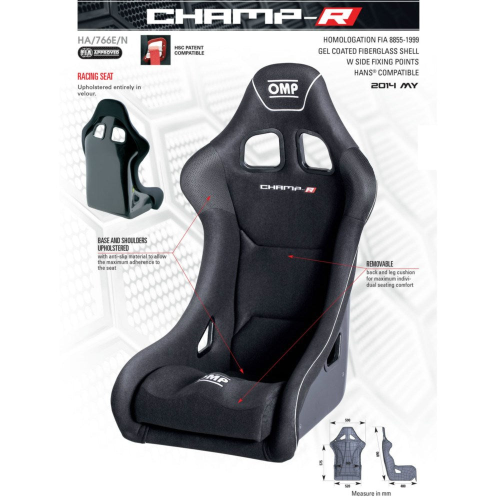 Asiento Baquet Omp Champ R