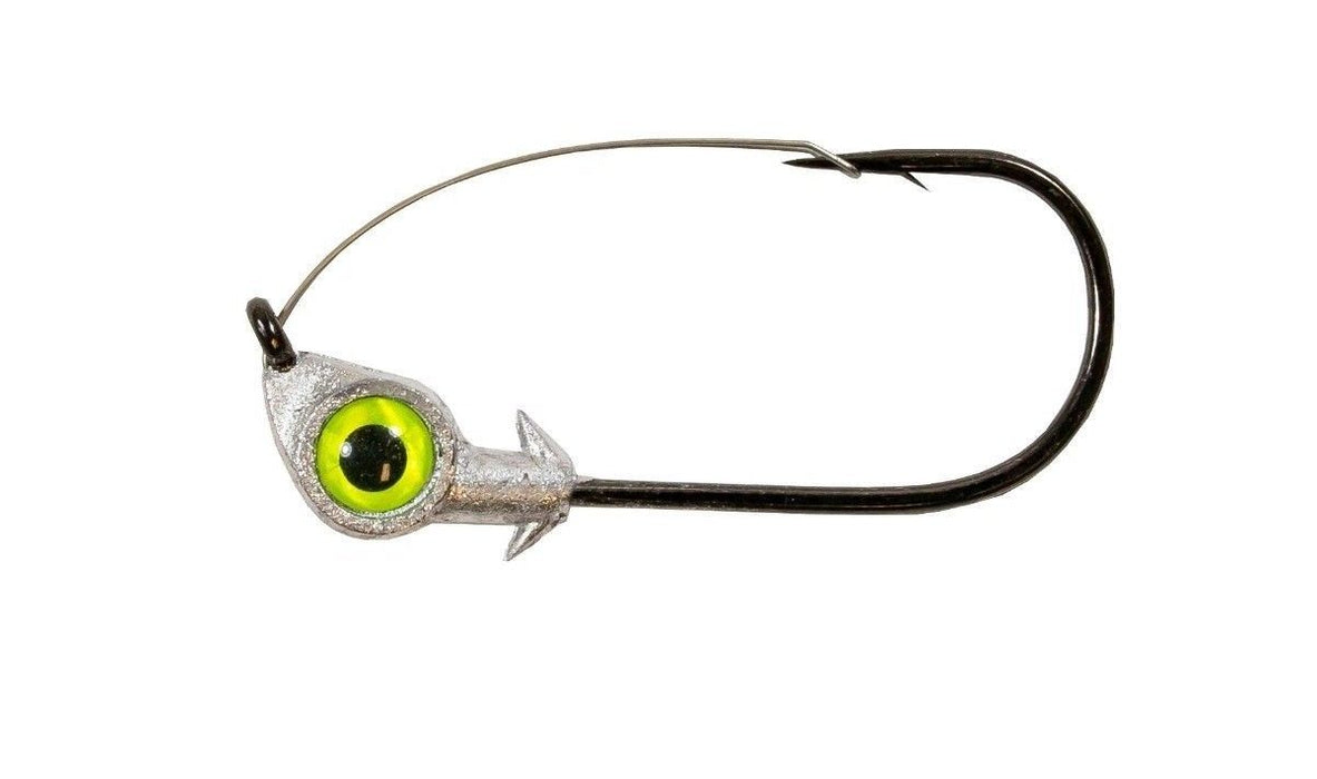 Z Man Weedless Eye Jigheads 3 pack Chartreuse