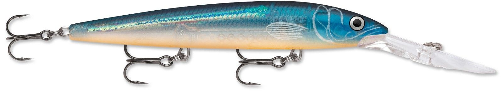 Rapala Down Deep Husky Jerk 12 Deep Diving Jerkbait Blue Ghost
