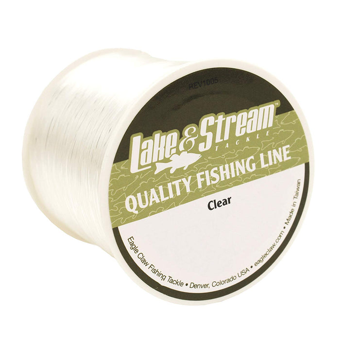 Lake & Stream Clear Monofilament Line 4 pound - 900 yards