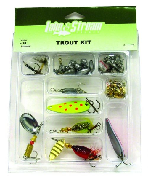 Lake & Stream 68-Piece Beginner Trout Kit Default Title