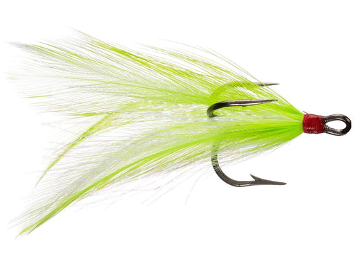 Eagle Claw Lazer Sharp Feather Dressed Treble Hook 2 pack Chartreuse