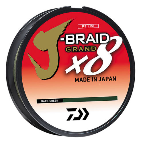 Daiwa J-Braid Grand x8 Dark Green Braided Line 6 pound