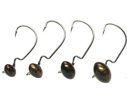 Gene Larew Biffle HardHead Articulated Football Jighead 2 pack 3/16 oz - 3/0 Hook