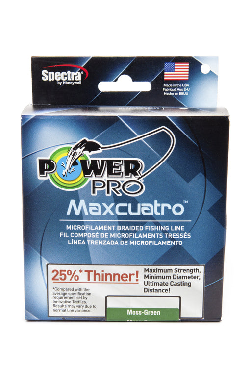 Power Pro Maxcuatro Spectra Moss Green Braided Line
