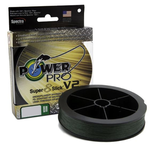 Power Pro Super8Slick V2 Moss Green Braided Line