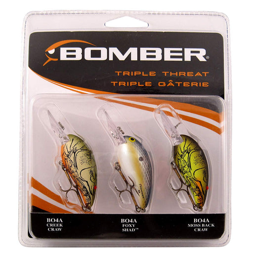 Bomber Triple Threat Model 4A 3-Piece Crankbait Variety Pack