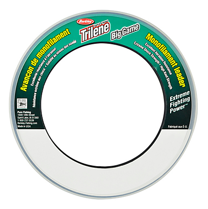 Berkley Trilene Big Game Monofilament Leader Clear Wrist Spool 55 Yard