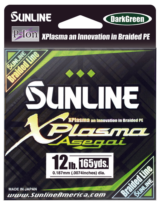Sunline Xplasma Asegai Green Braided Line 165 Yards
