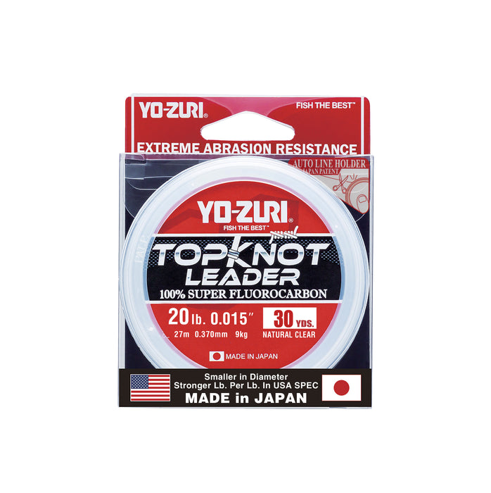 Yo-Zuri TopKnot Leader Fluorocarbon Natural Clear 30 Yards